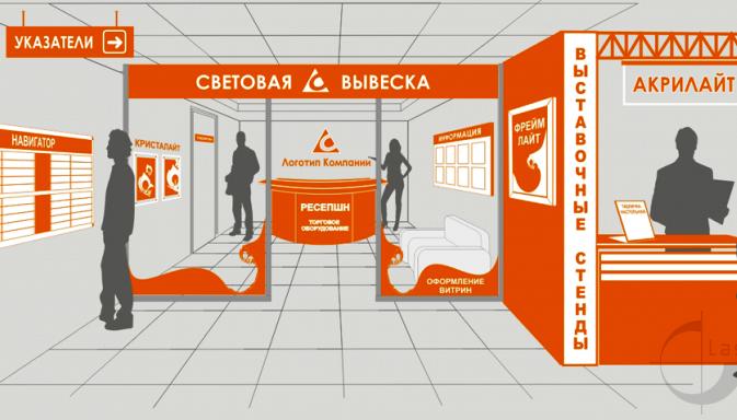 Интерьерная реклама Одесса